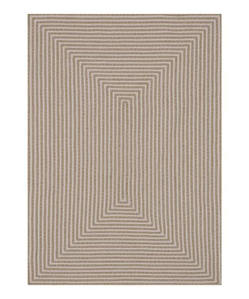 Beige Stripe Indoor/Outdoor Rug