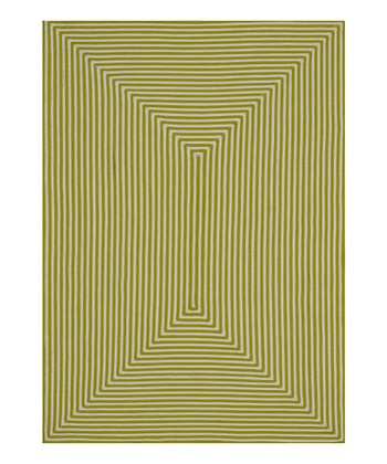 Lime Stripe Indoor/Outdoor Rug