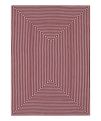 Red Stripe Indoor/Outdoor Rug