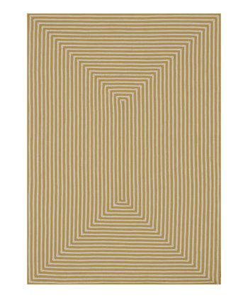 Yellow Stripe Indoor/Outdoor Rug