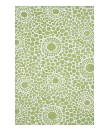 Green Bubble Piper Rug