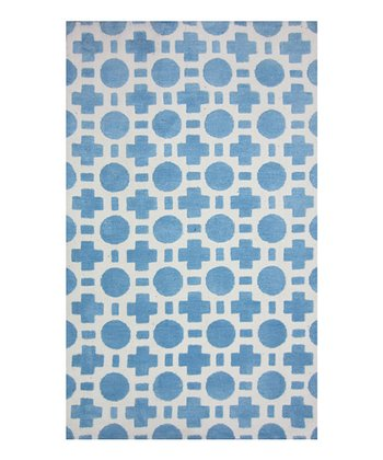 Blue & White Piper Rug