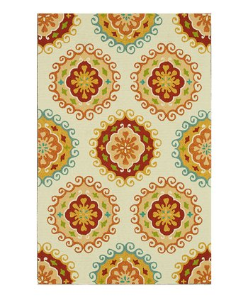 Ivory & Yellow Sunshine Indoor/Outdoor Rug