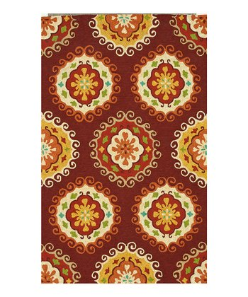 Red & Yellow Sunshine Indoor/Outdoor Rug