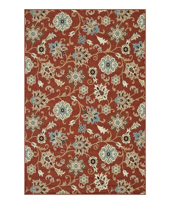 Rust & Blue Arbor Indoor/Outdoor Rug