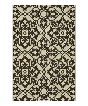 Ivory & Chocolate Arbor Indoor/Outdoor Rug