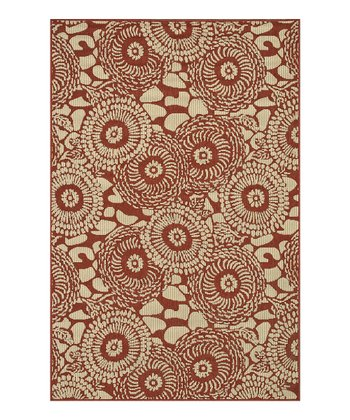 Rust & Ivory Arbor Indoor/Outdoor Rug