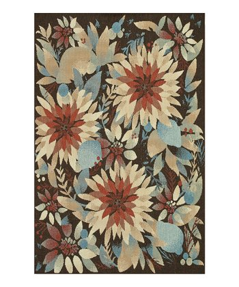 Rust & Ivory Floral Arbor Indoor/Outdoor Rug