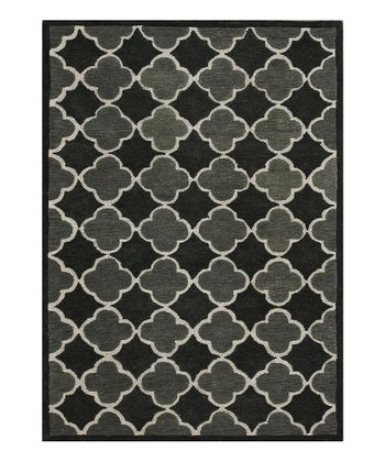 Black & Grey Brighton Wool Rug