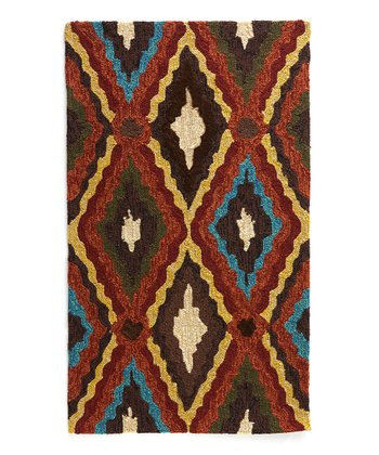 Brown & Blue Enzo Indoor/Outdoor Rug