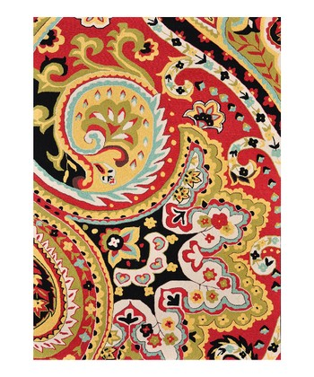 Red & Black Francesca Rug