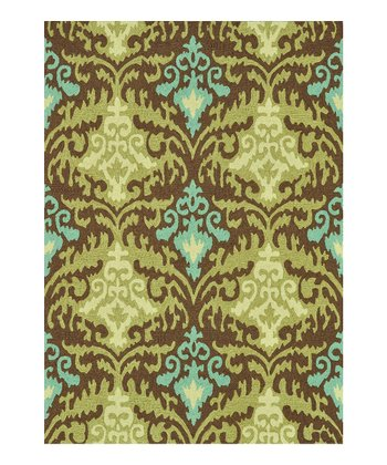 Brown & Green Francesca Rug