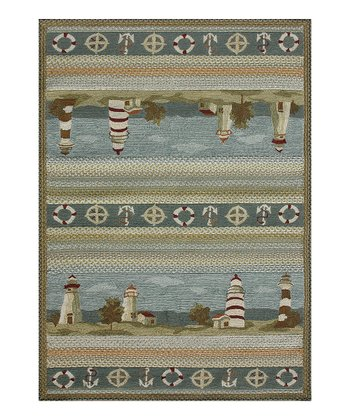 Blue Lighthouse Hampton Rug