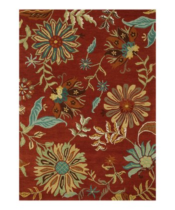 Rust & Sage Bloom Rug