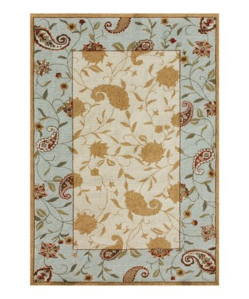 Beige & Blue In-Dora Indoor/Outdoor Rug