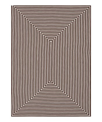 Brown Stripe Indoor/Outdoor Rug