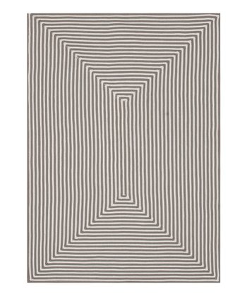 Gray Stripe Indoor/Outdoor Rug