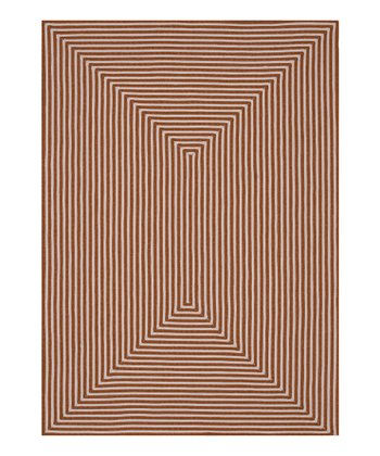 Orange Stripe Indoor/Outdoor Rug