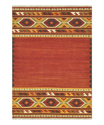 Red & Gold Isara Wool Rug
