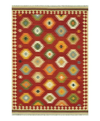 Red Isara Wool Rug