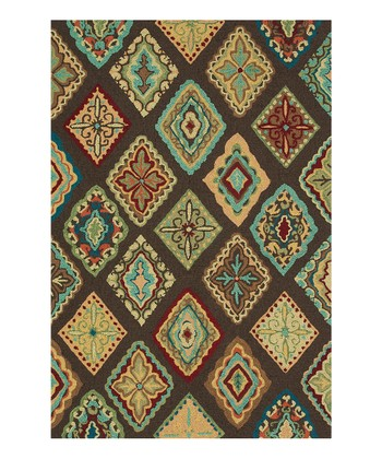 Brown & Blue Olivia Rug