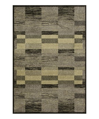 Charcoal & Green Revive Rug