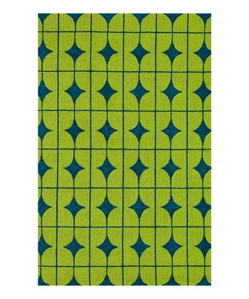 Lime & Blue Punch Venice Beach Indoor/Outdoor Rug