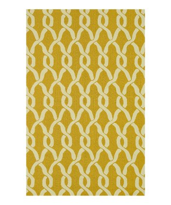 Goldenrod Arch Venice Beach Indoor/Outdoor Rug