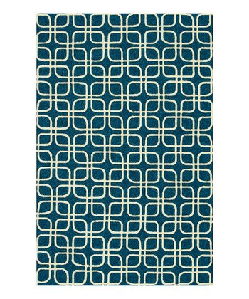 Blue & Ivory Venice Beach Indoor/Outdoor Rug