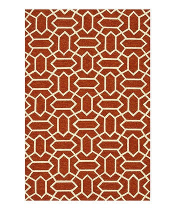 Rust & Ivory Venice Beach Indoor/Outdoor Rug