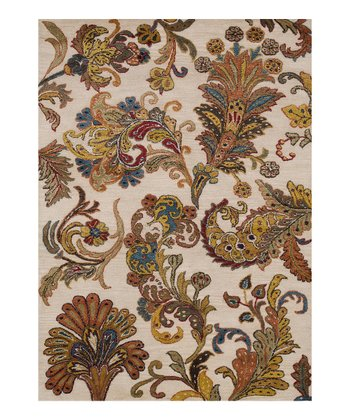 Ivory Willow Wool-Blend Rug