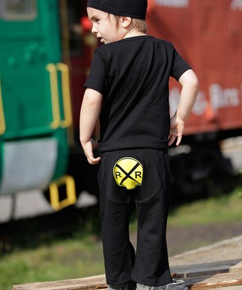 Black Railroad Pants - Infant