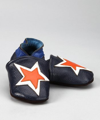 Blue & Orange Star Booties