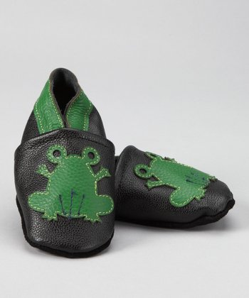 Black & Green Frog Prince Booties