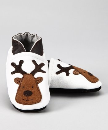 White Reindeer Booties