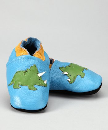 Light Blue Triceratops Booties