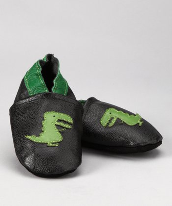 Black & Green T-Rex Booties