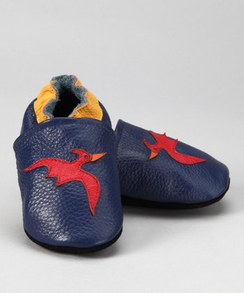 Navy & Red Pterodactyl Booties