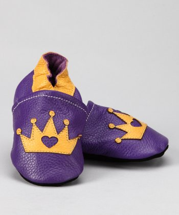 Purple & Gold Crown Booties