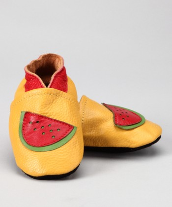 Yellow Watermelon Booties