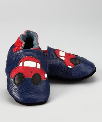 Blue & Red Car Booties