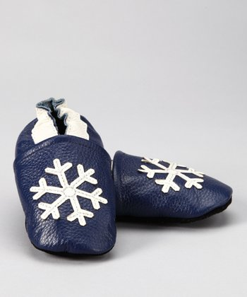 Blue Snowflake Booties