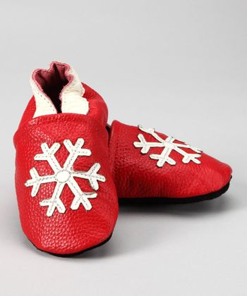 Red Snowflake Booties