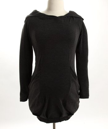 Tunic Sweater Hoodie in Grey