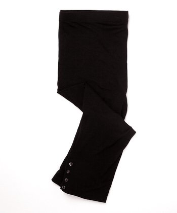 Fierce Mamas Black Capri Leggings