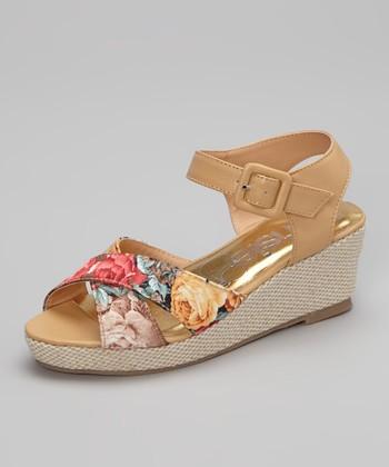 Tan Floral Sandal
