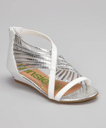 White Fancy Gladiator Sandal