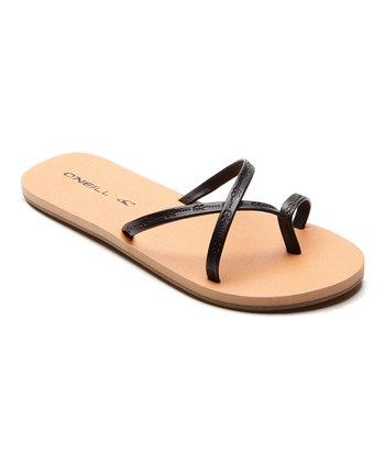 Black & Taupe Wander Flip-Flop