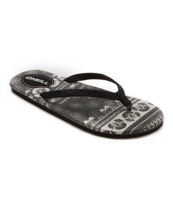 Black Rambler Flip-Flop