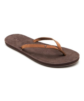 Cognac Kona Flip-Flop